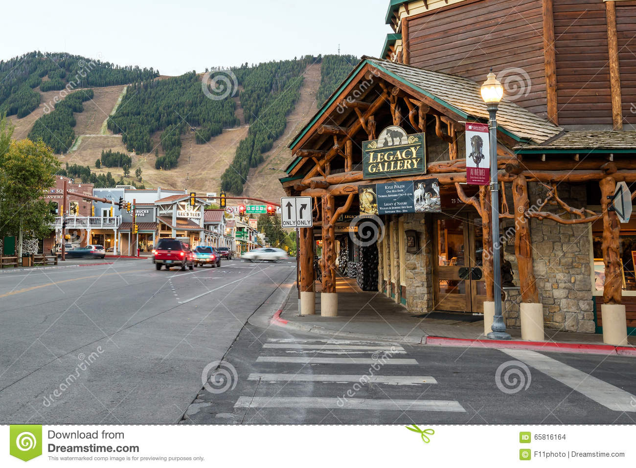 Downtown jackson hole in wyoming usa editorial stock image for What to do in jackson wy