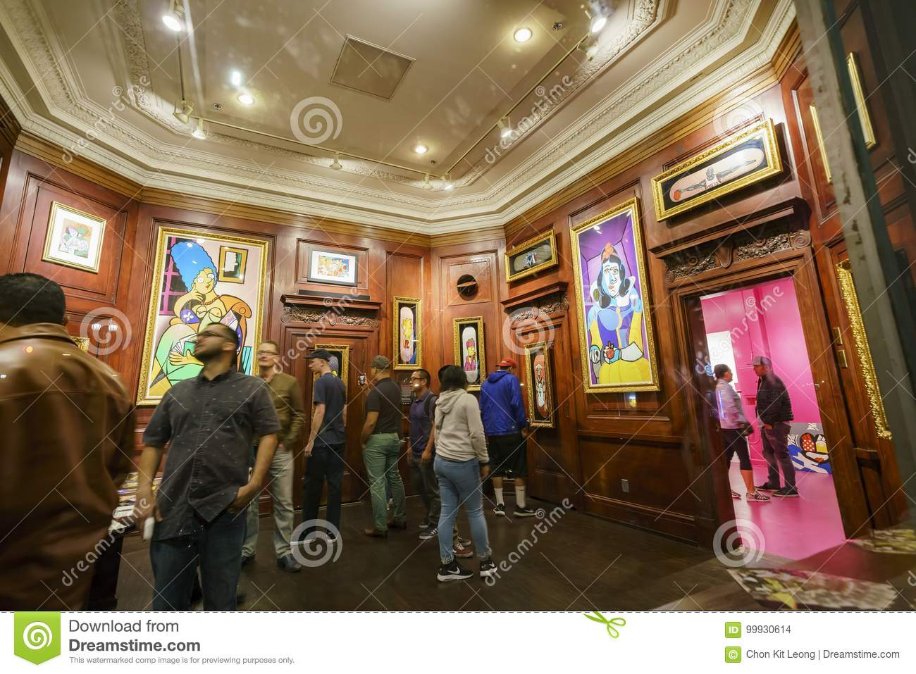 Downtown Los Angeles Art Walk Editorial Stock Image - Image of
