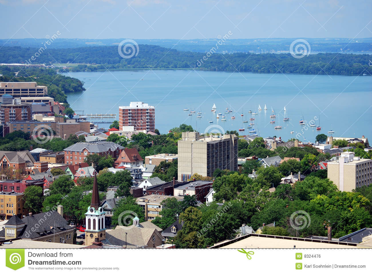 Downtown madison wisconsin royalty free stock image for Mendota terrace madison wi
