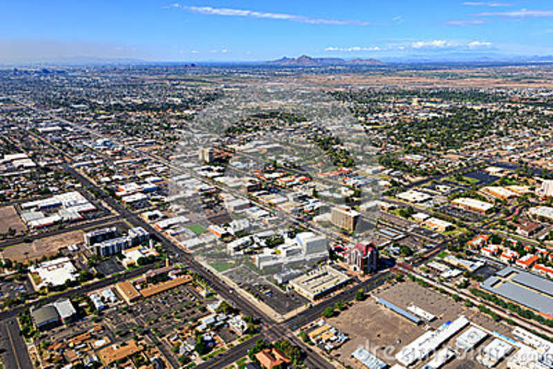 Downtown Mesa Arizona From Above Stock Photo Image Of Course