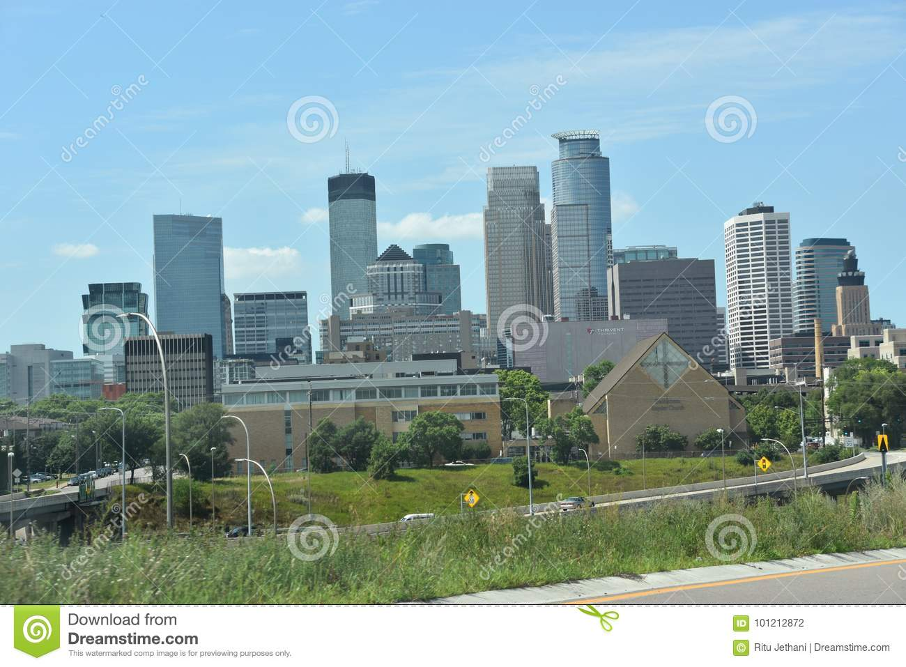 Downtown Minneapolis in Minnesota