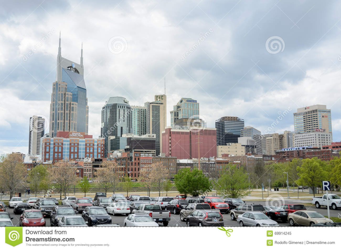 Download Downtown Nashville From Nissan Stadium Editorial Image   Image Of  City, South: 69914245