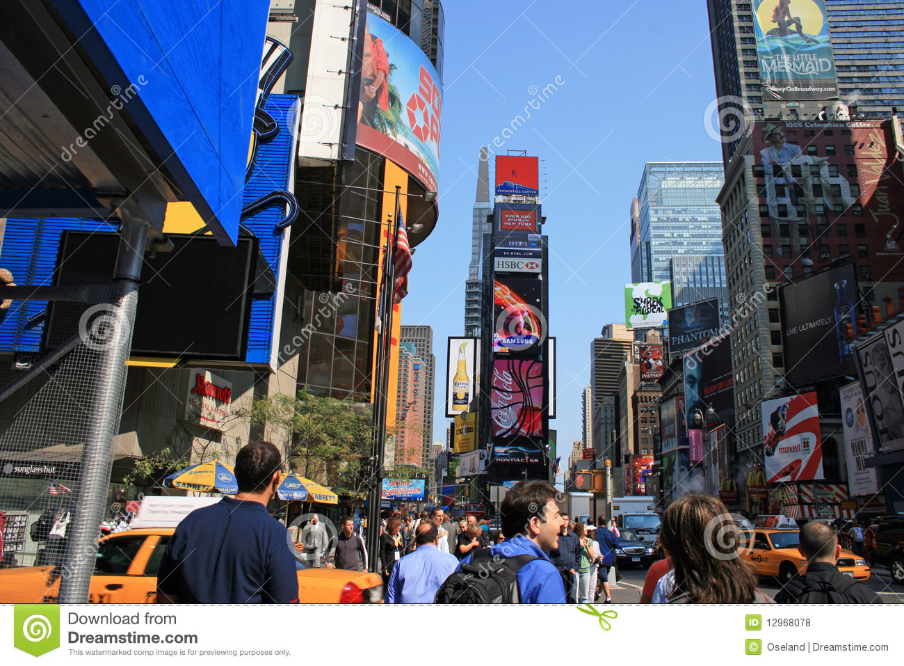 Taxi Albany Ny >> Downtown New York City Times Square Editorial Stock Photo ...