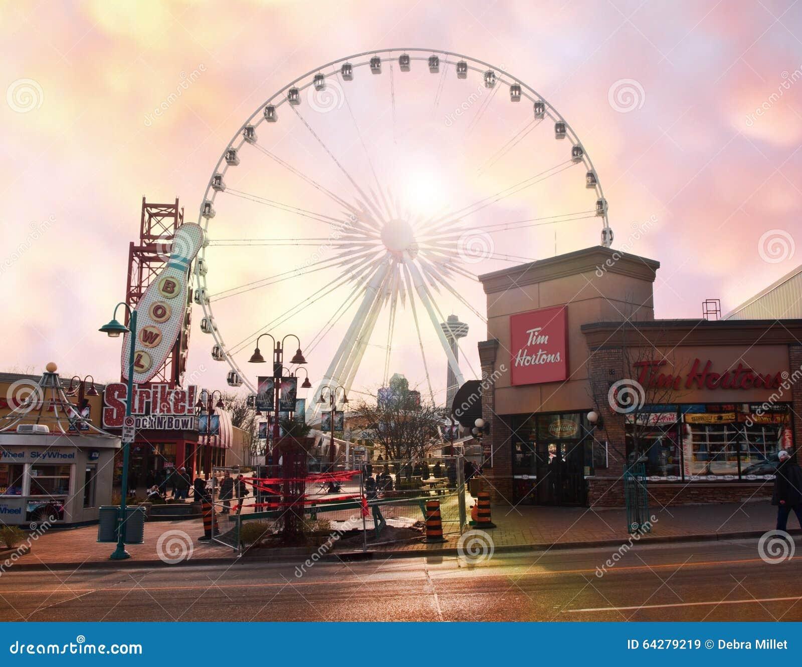 Downtown Niagara Falls City Editorial Stock Image Image Of