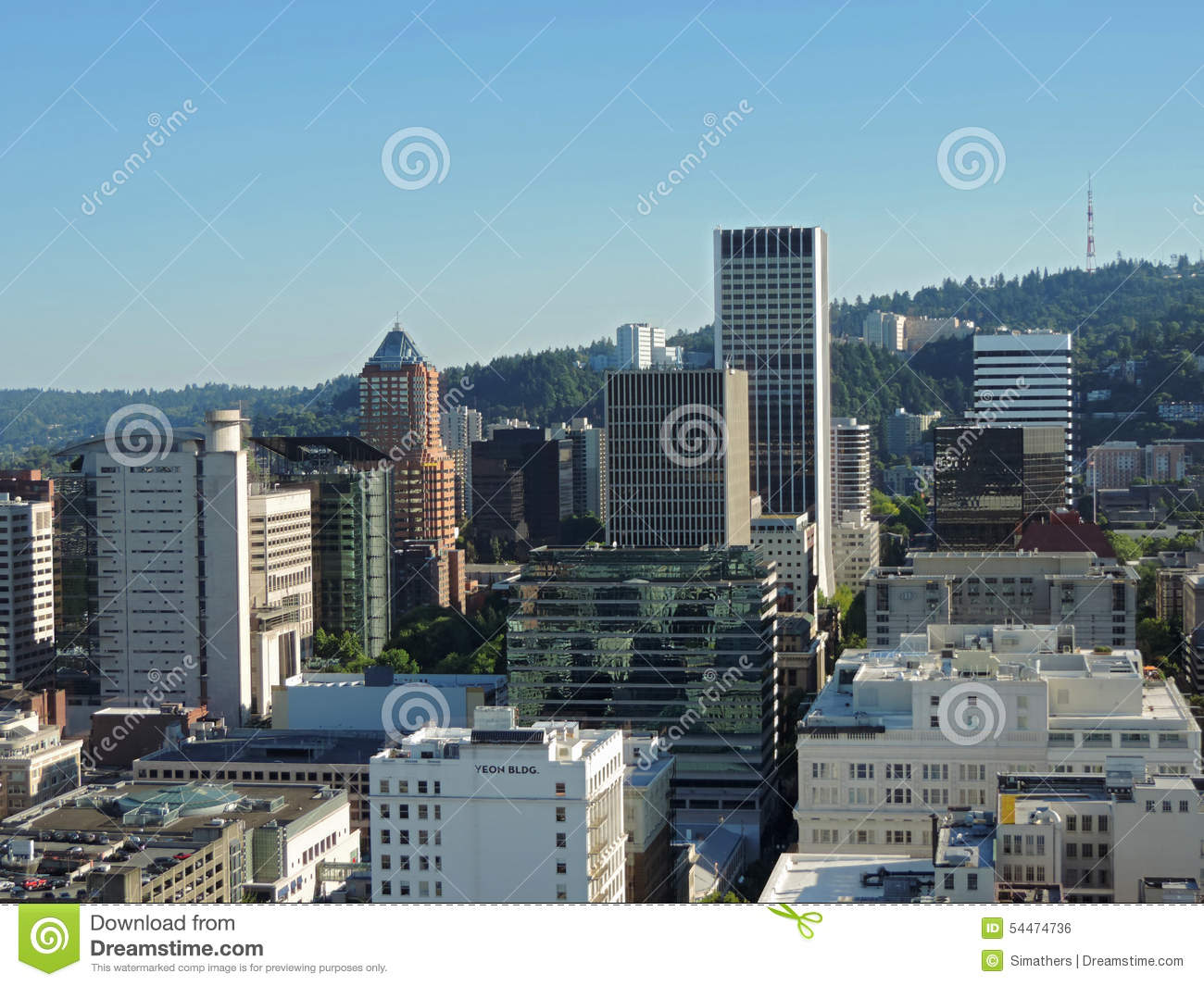 Downtown Portland Skyline At Collection 12 Wallpapers