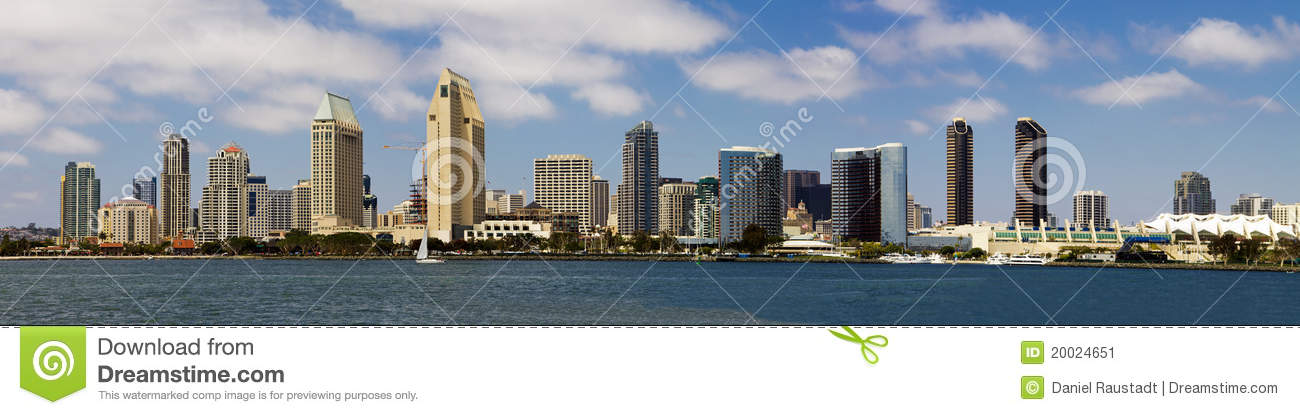 Download Downtown San Diego Seaside Cityscape Panorama Stock Image - Image of lifestyle, leisure: 20024651