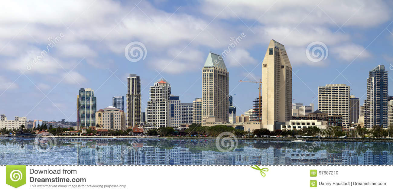 Downtown San Diego Seaside Cityscape