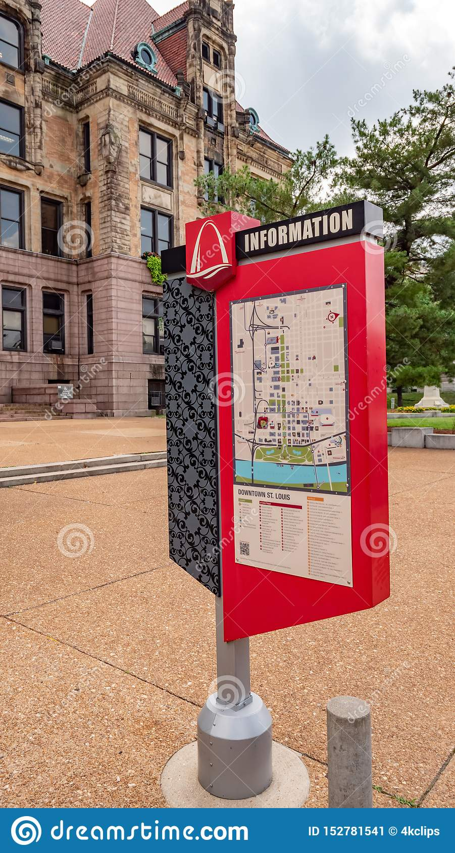 Downtown St Louis Information Map - ST. LOUIS, USA - JUNE 19 ...