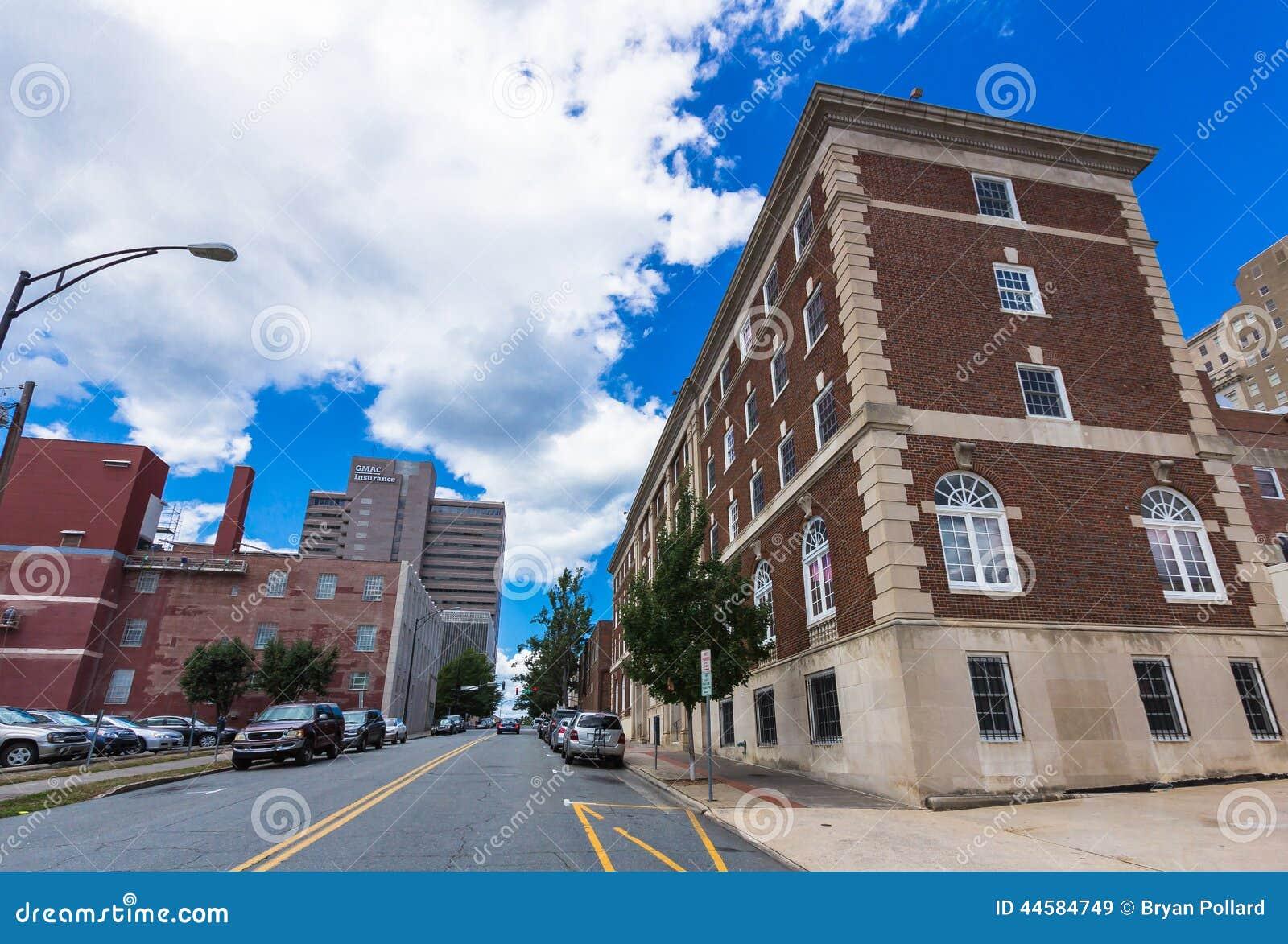 Downtown Winston Salem North Carolina From Spruce Street