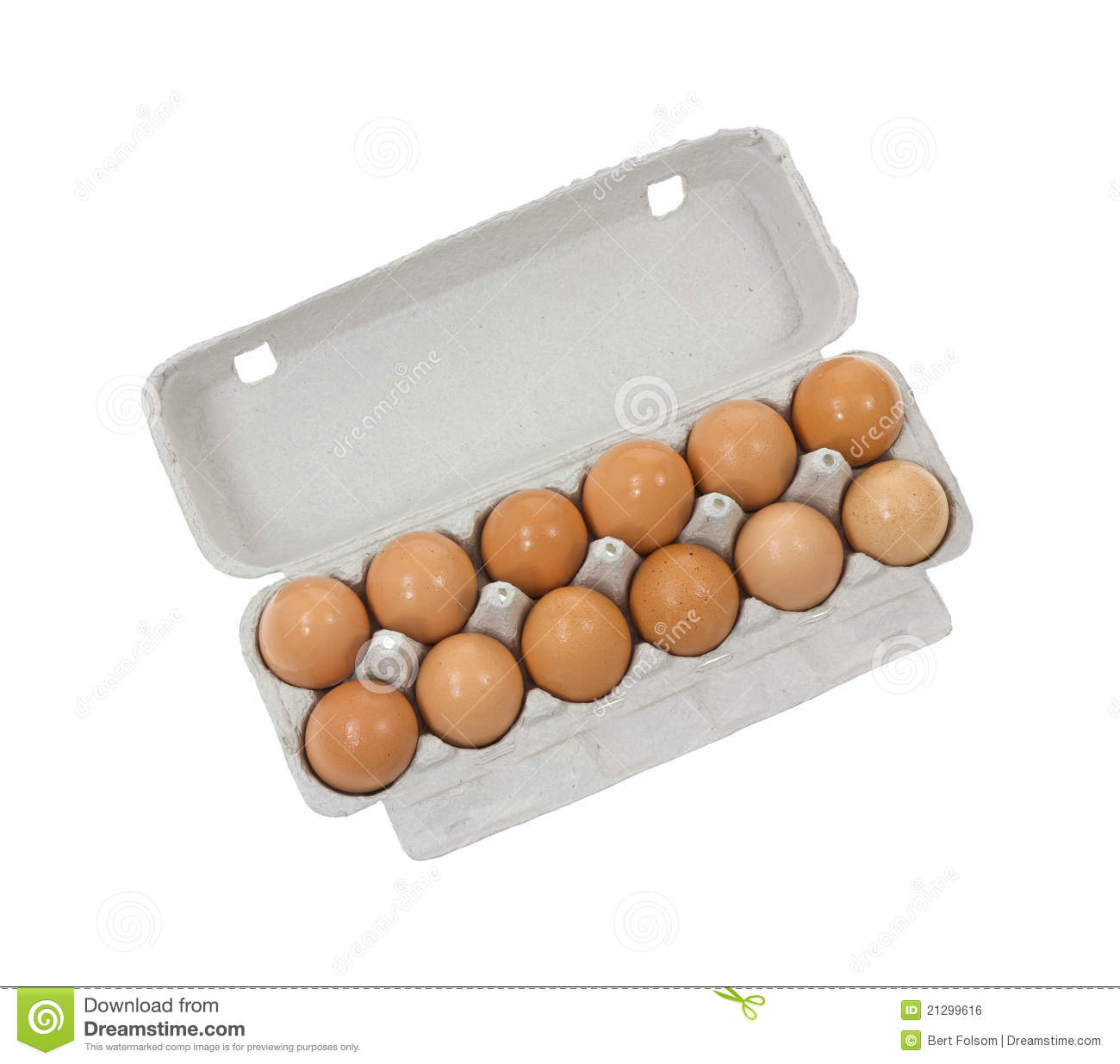 Dozen Brown Shelled Eggs Royalty Free Stock Image - Image ...