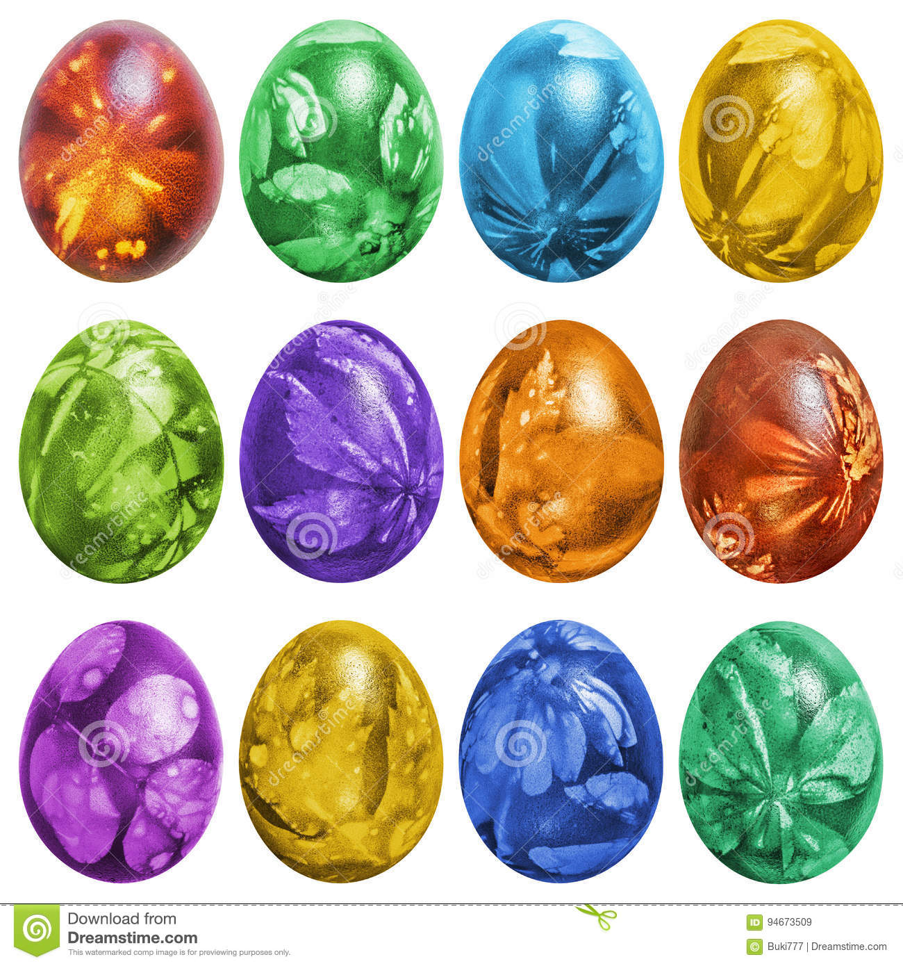 Colorful Easter Eggs Clip Art Stock Images