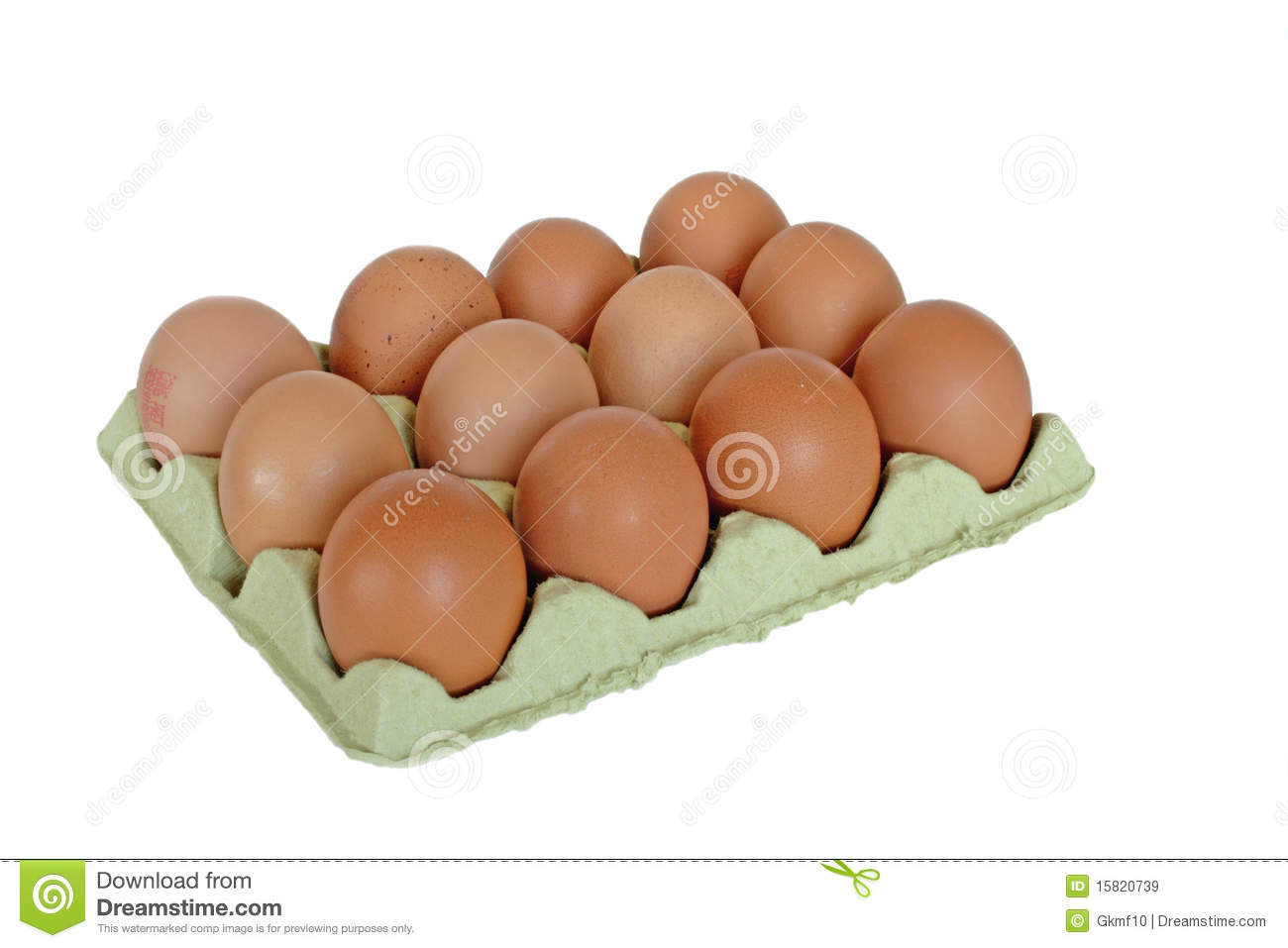 Dozen Eggs Royalty Free Stock Images - Image: 15820739