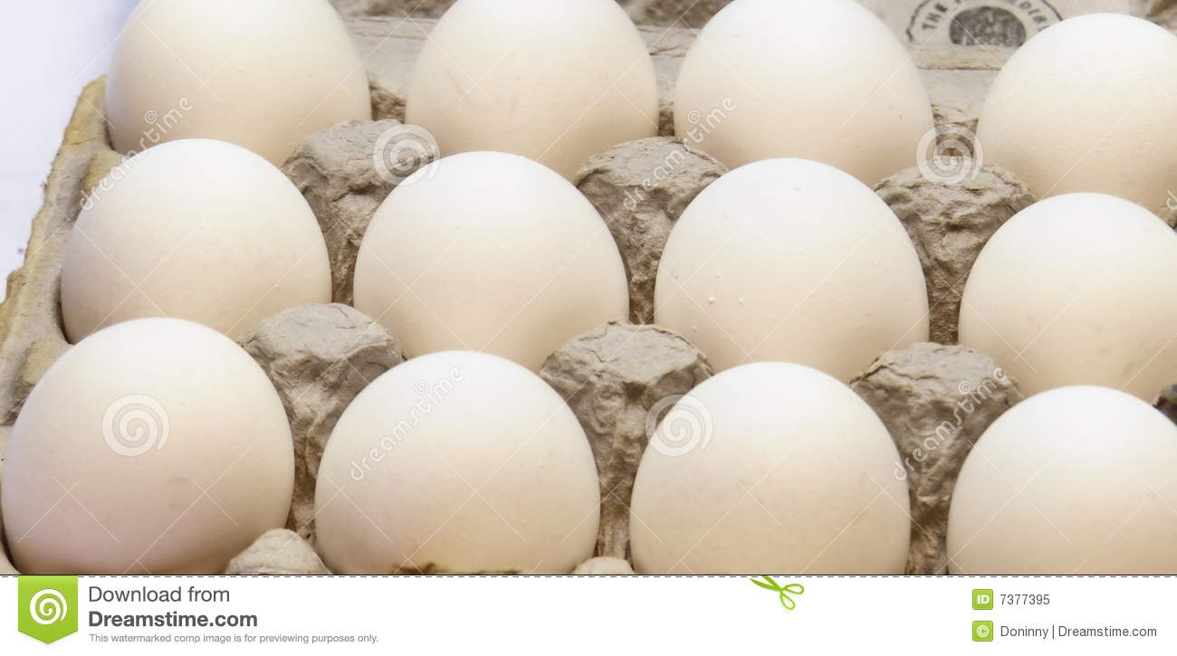 Dozen Eggs In Carton Royalty Free Stock Photo - Image: 7377395