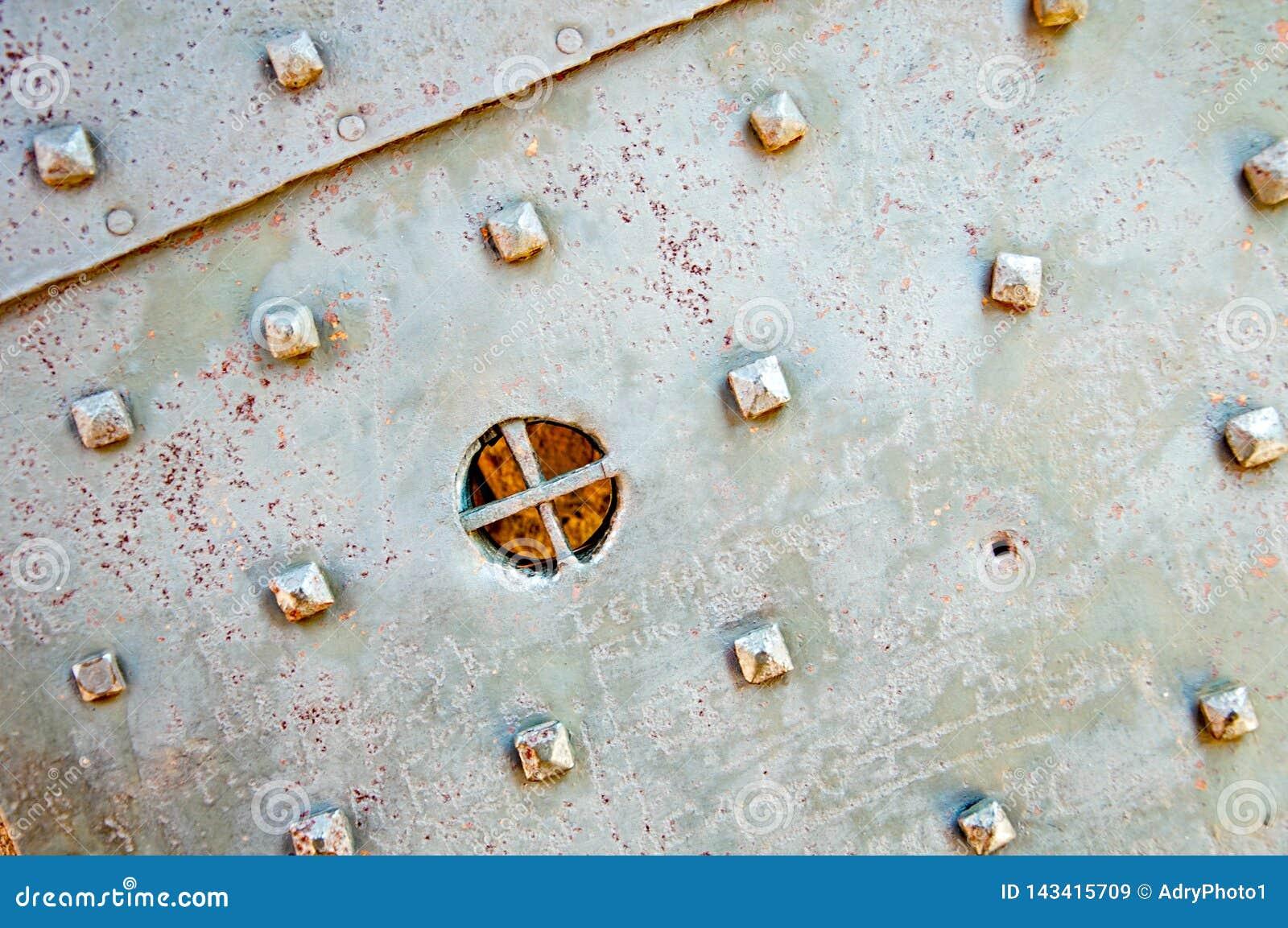Dozza Italië: Het oude Detail van de Kasteeldeur