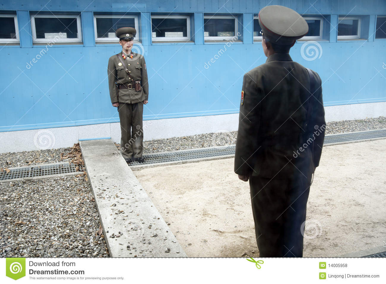 DPRK soldiers on 38 line