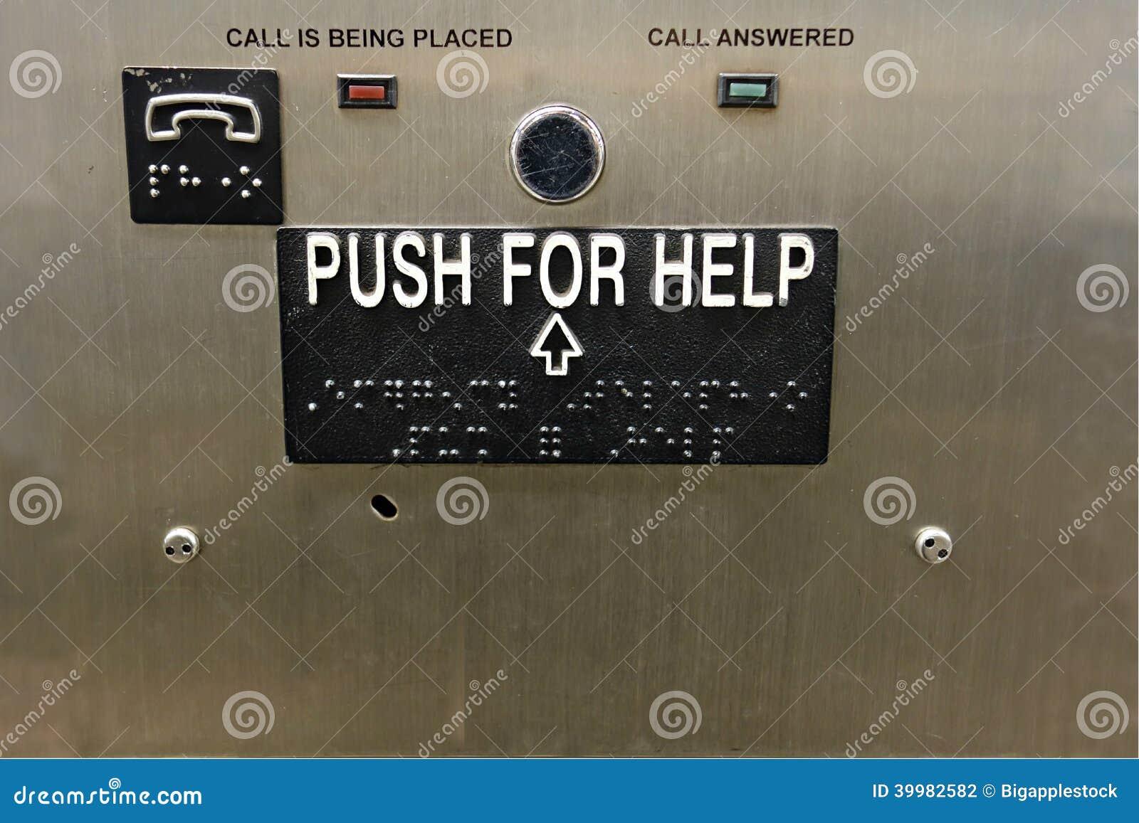 Drängen Sie auf Hilfe