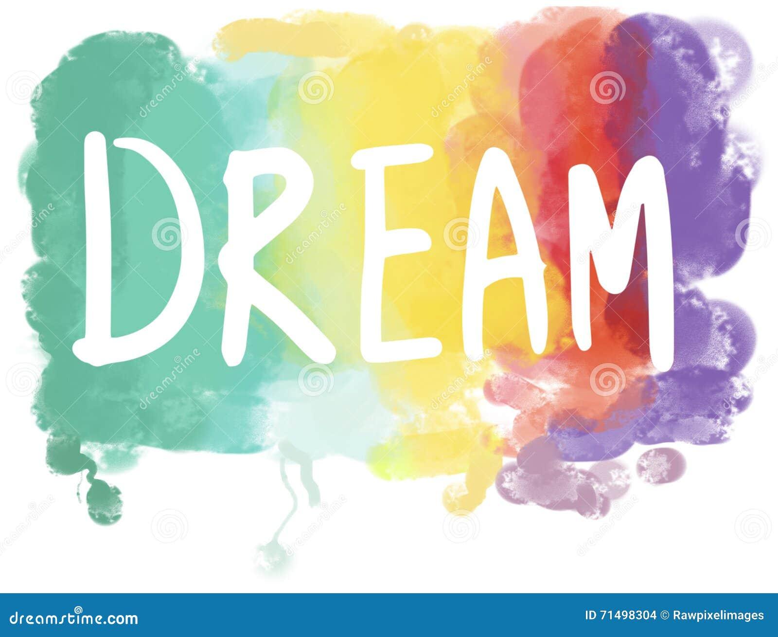Dröm- Desire Hopeful Inspiration Imagination Goal visionbegrepp