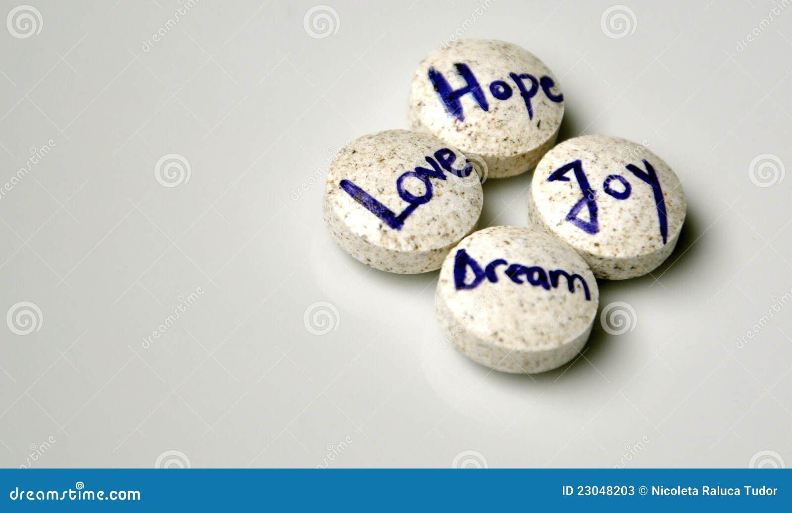 Dröm-, förälskelse-, hope- och glädjebegrepp