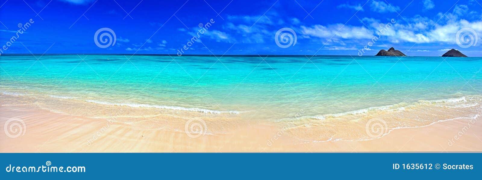 Dröm- panorama för strand