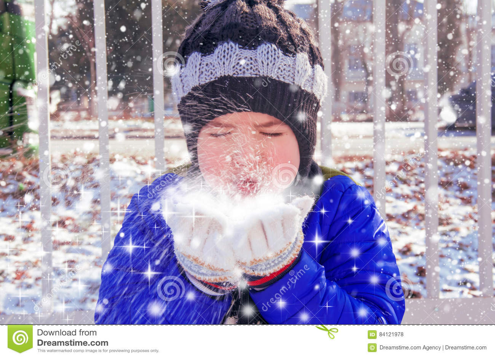 Drömmar av magisk snö