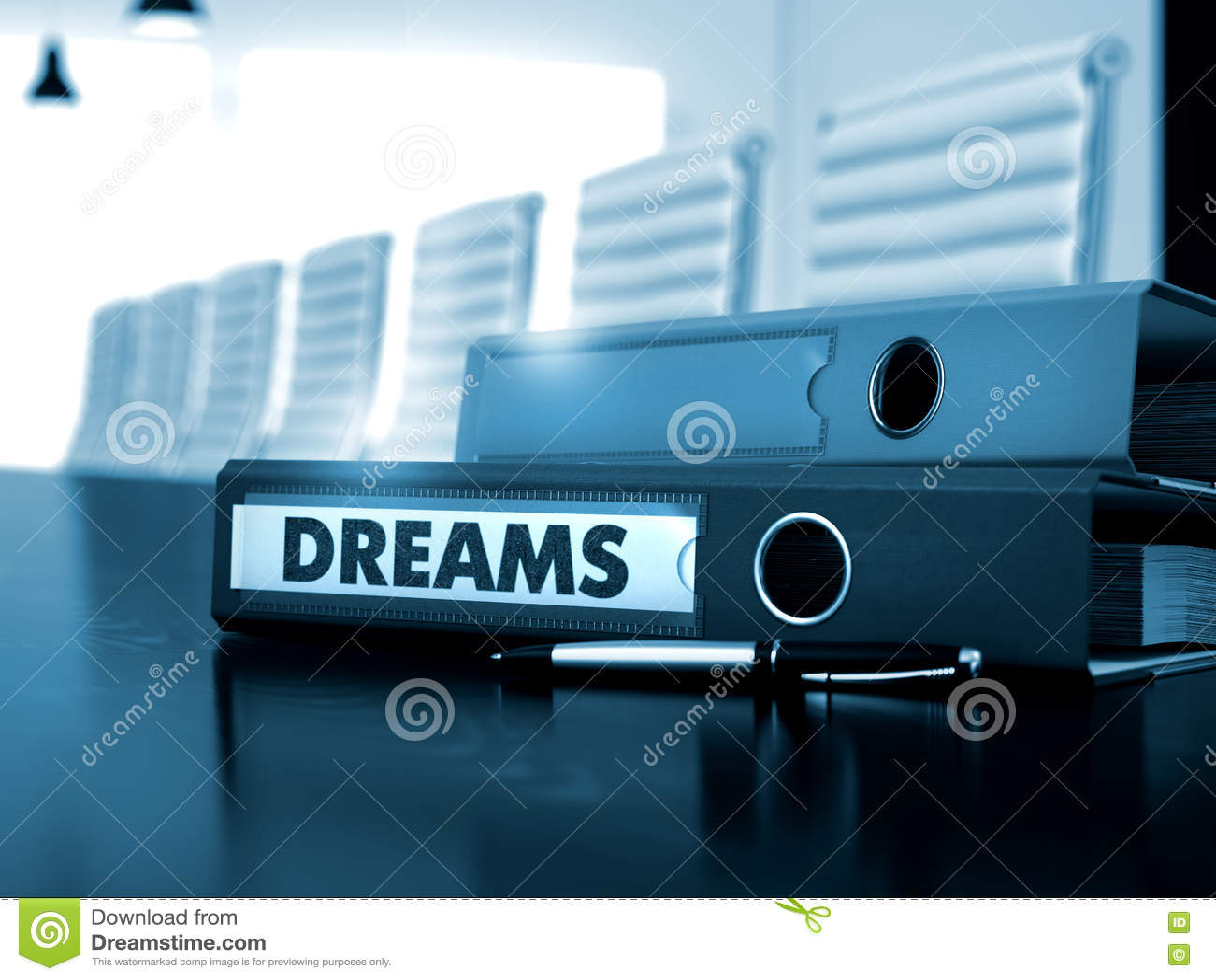 Drömmar på mapp suddighet bild 3d