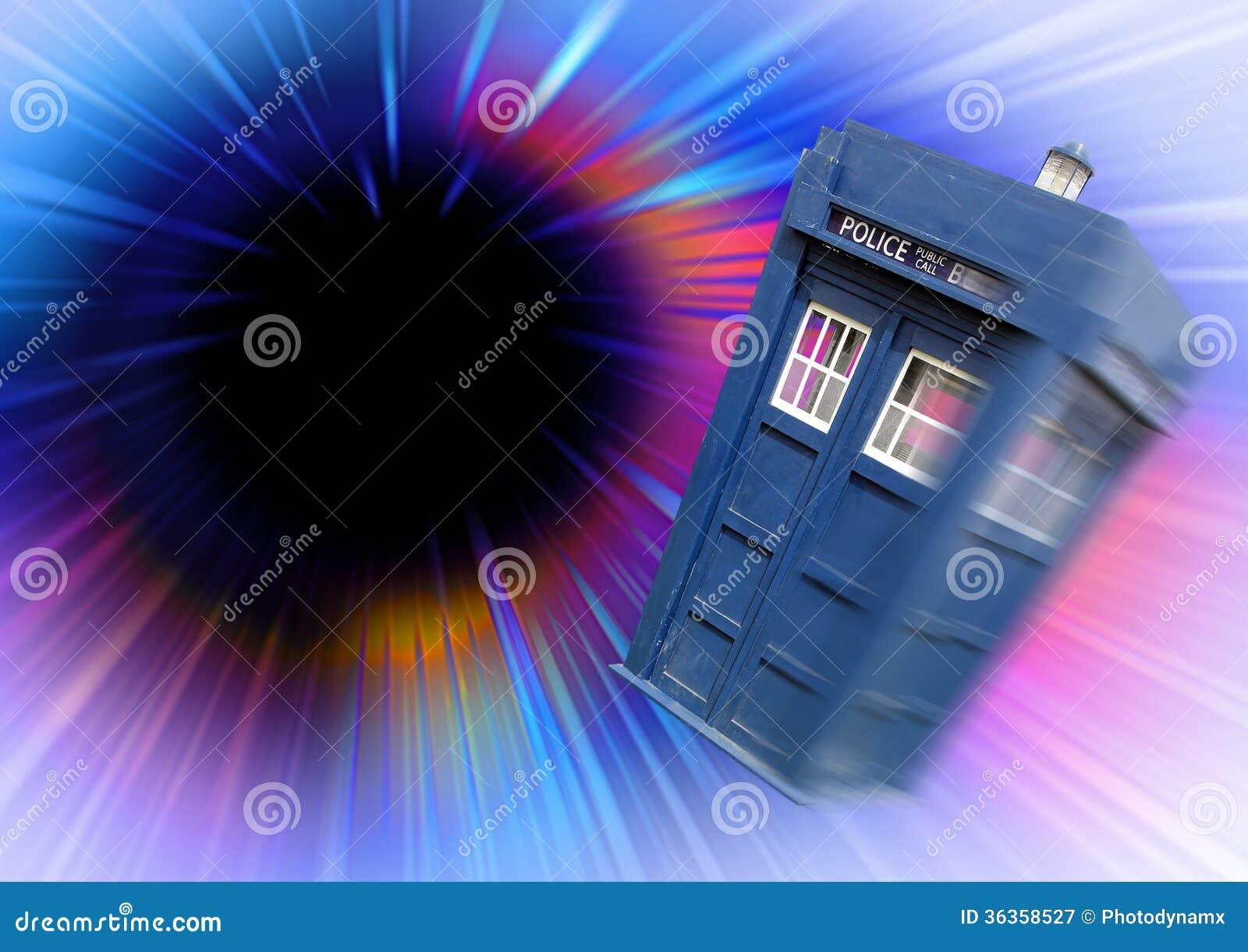 Dr. qui vortex de trou noir de tardis