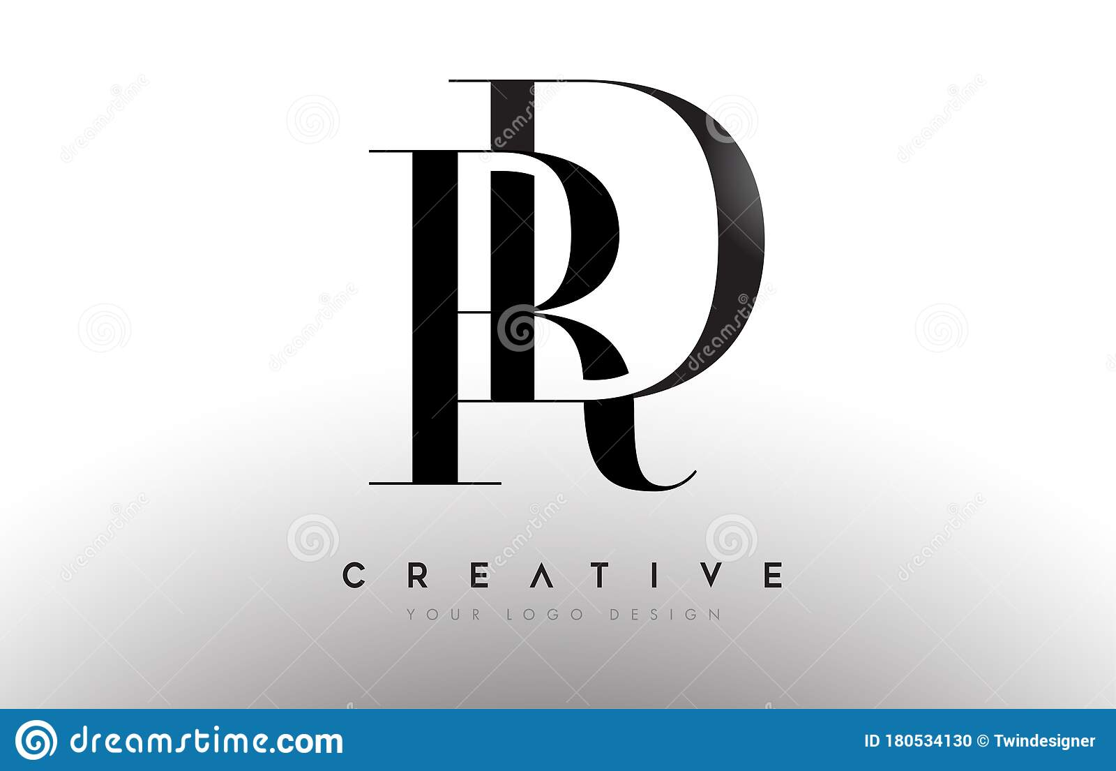 Dr Rd Letter Design Logo Logotype Icon Concept With Serif Font And Classic Elegant Style Look Vector Stock Vector Illustration Of Identity Idea 180534130