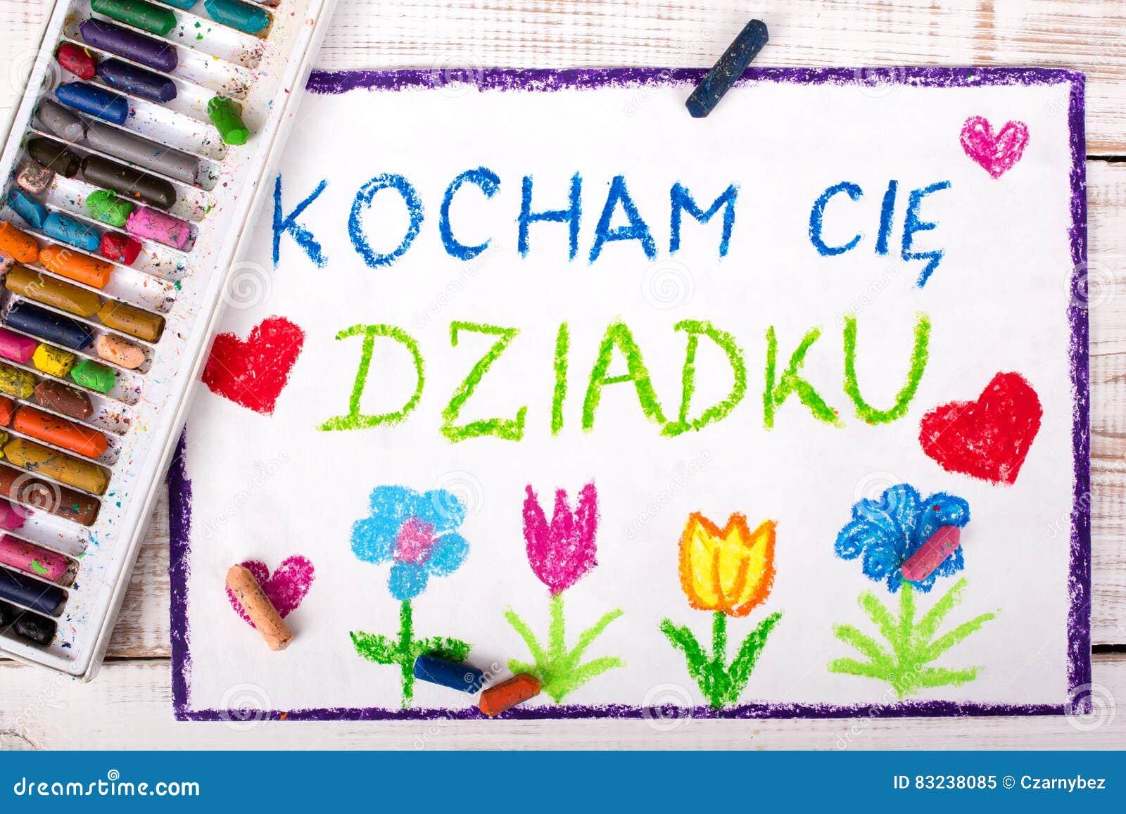 Dra: Polskt kort för dag för farfar` s