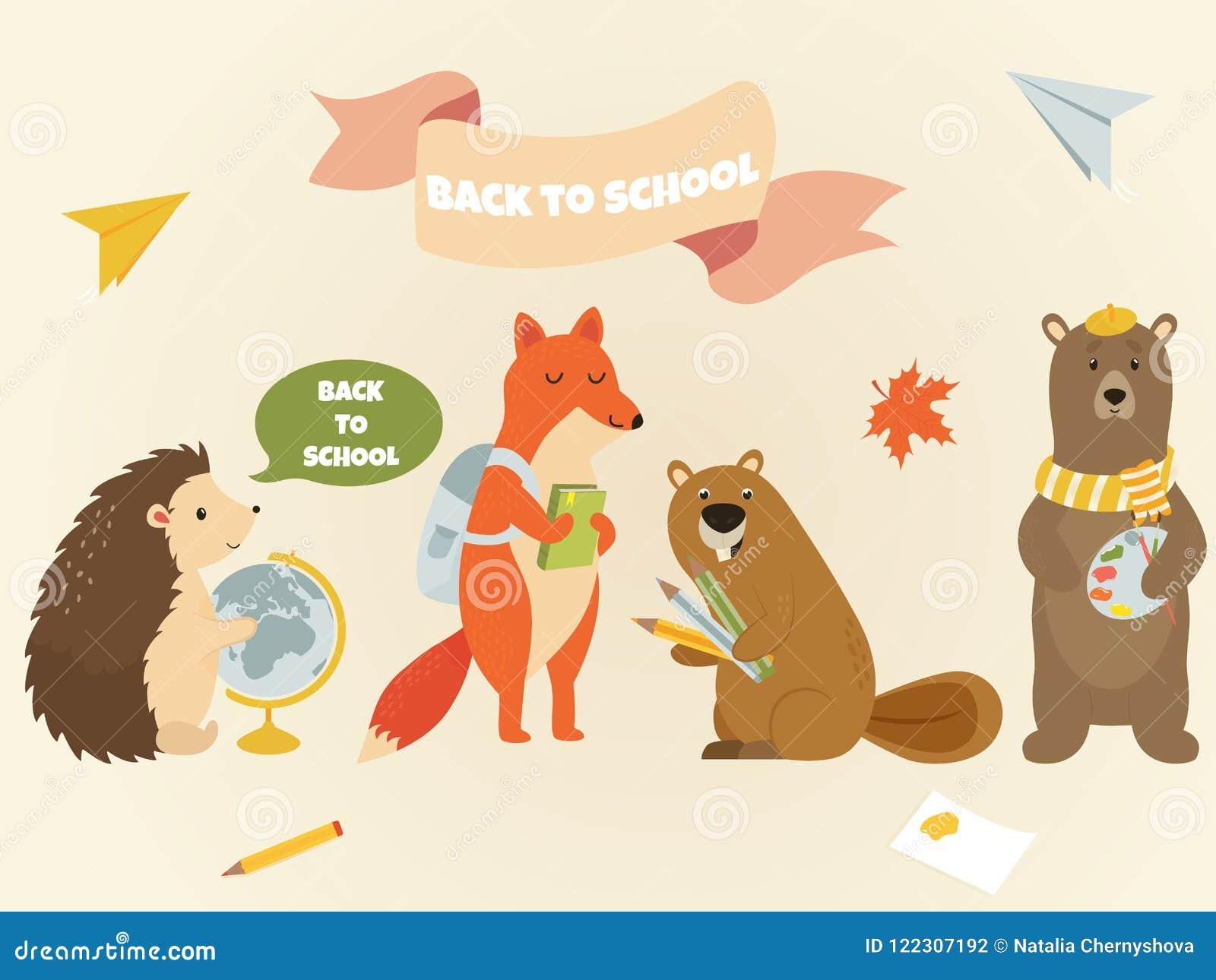 Dra tillbaka till för teckenutbildning för skolan den djura designen