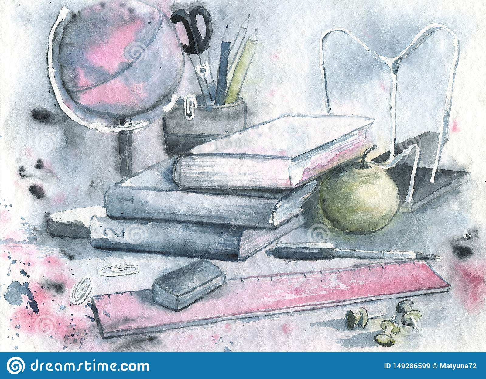Dra vattenf?rgen med en illustration av skolatillf?rsel F?r affischdesign affisch, bakgrunder, utbildningsdokument