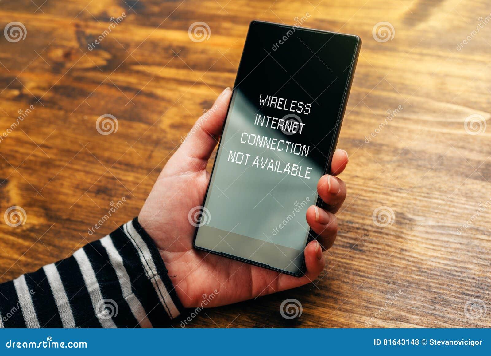 Draadloos Internet-verbindings niet beschikbaar bericht op slim