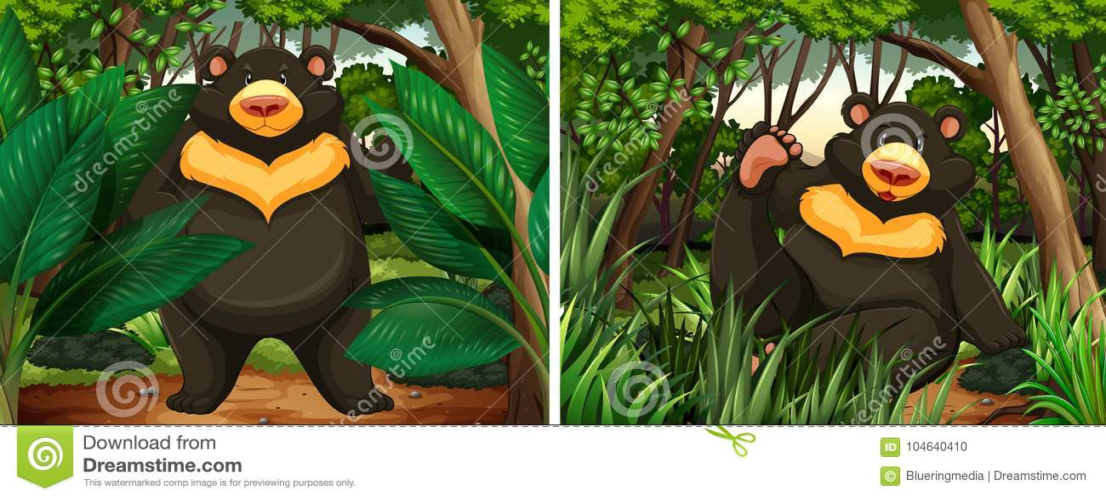 Download Draagt in het bos vector illustratie. Illustratie bestaande uit living - 104640410