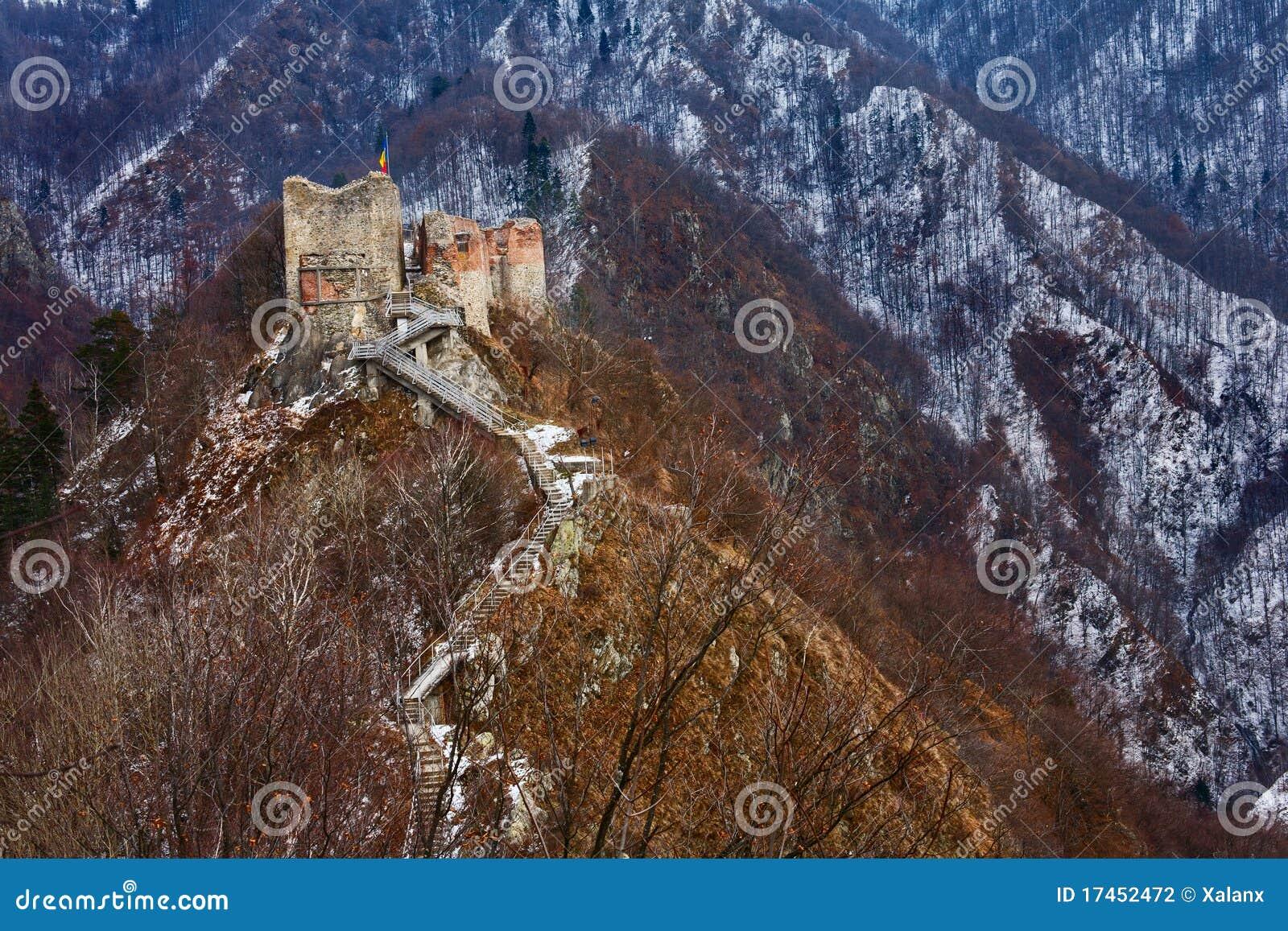Dracula s fortress at Poienari,