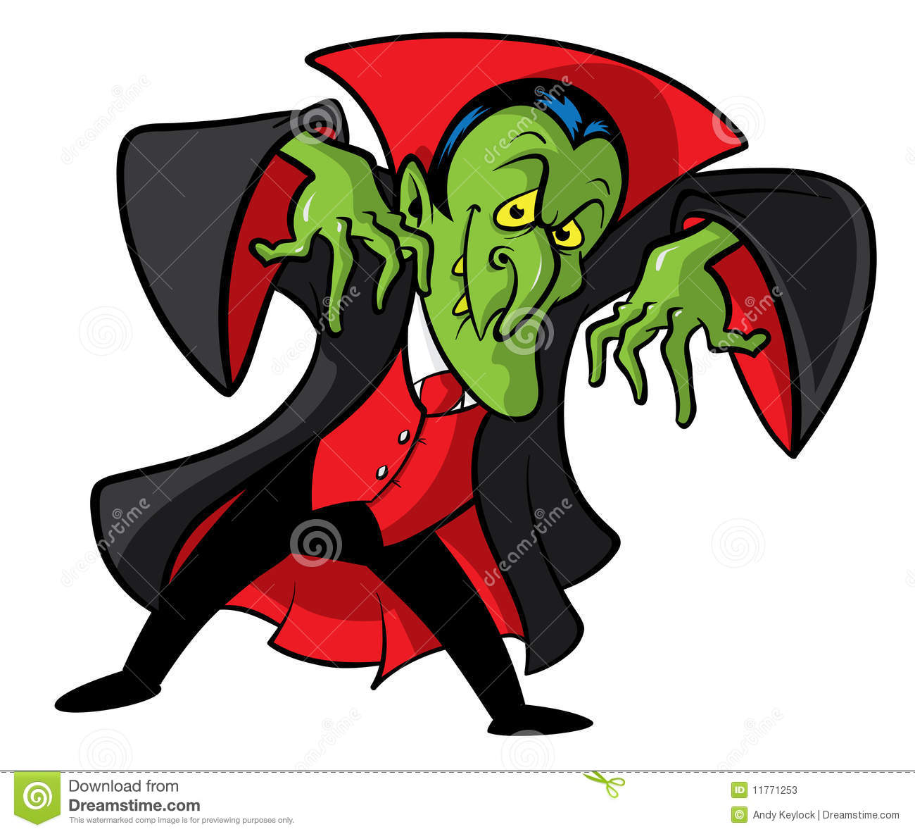 Dracula Vampire Cartoon Illustration Stock Photos - Image: 11771253
