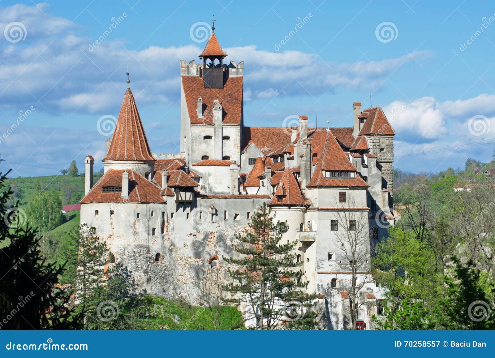 Draculas slott i kli, Transylvania, Brasov, Rumänien