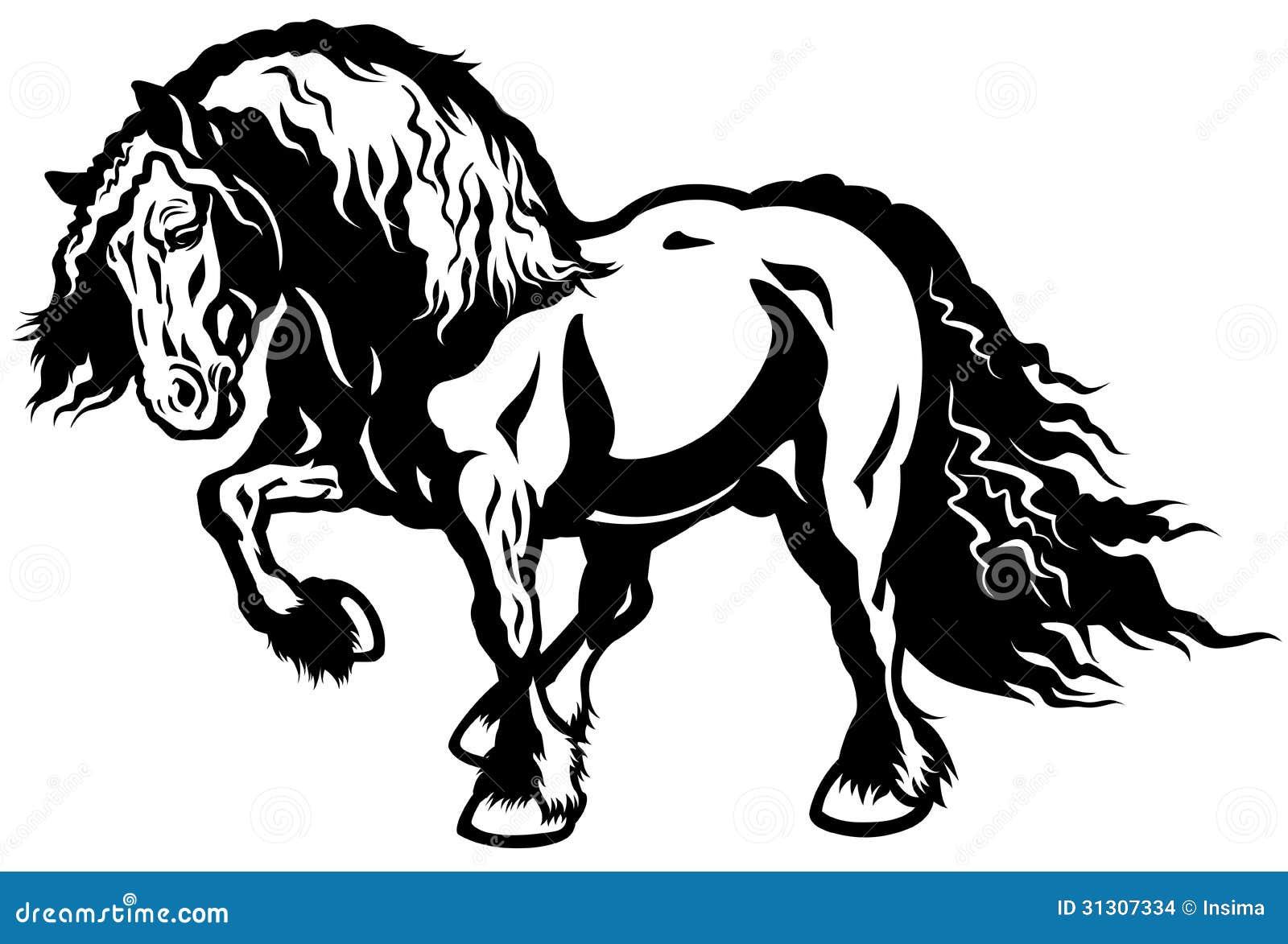 Draft horse stock vector Illustration of veterinary