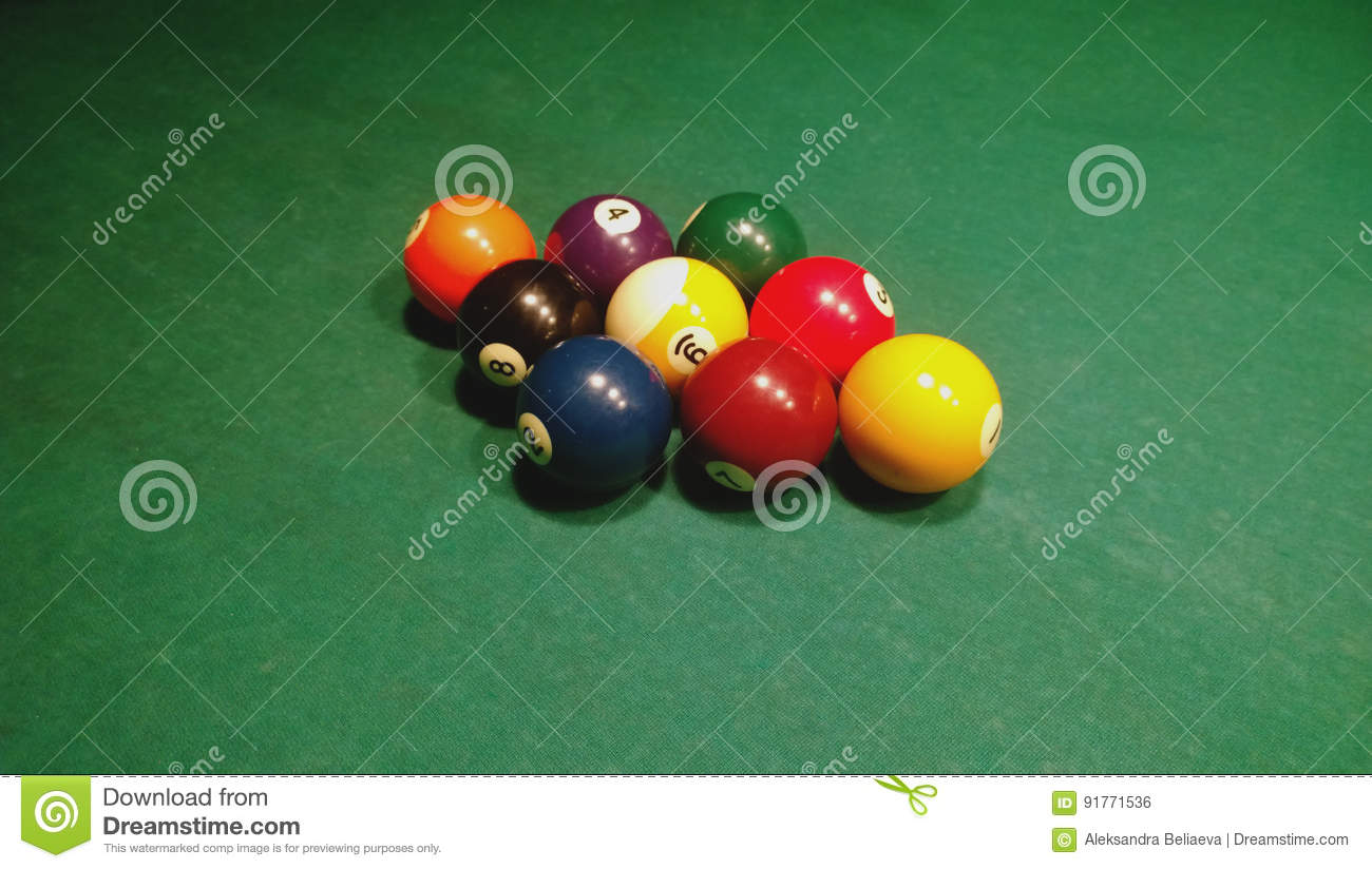 Drafted in the starting position of the group of balls for a Pool game - nine ball
