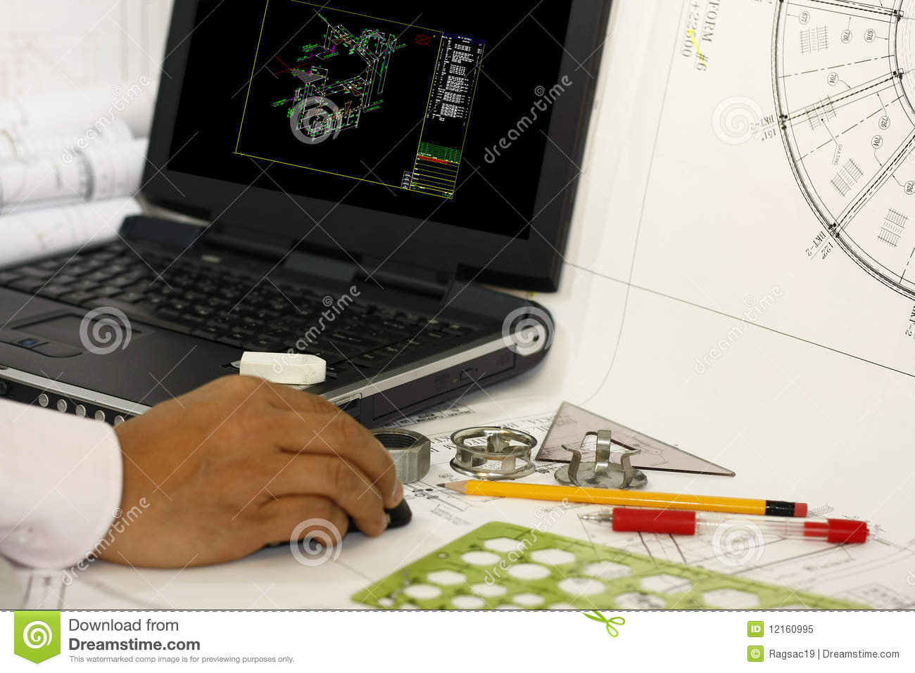 Drafting Of Piping Instrument And Diagram Stock Image Instrumentation Images