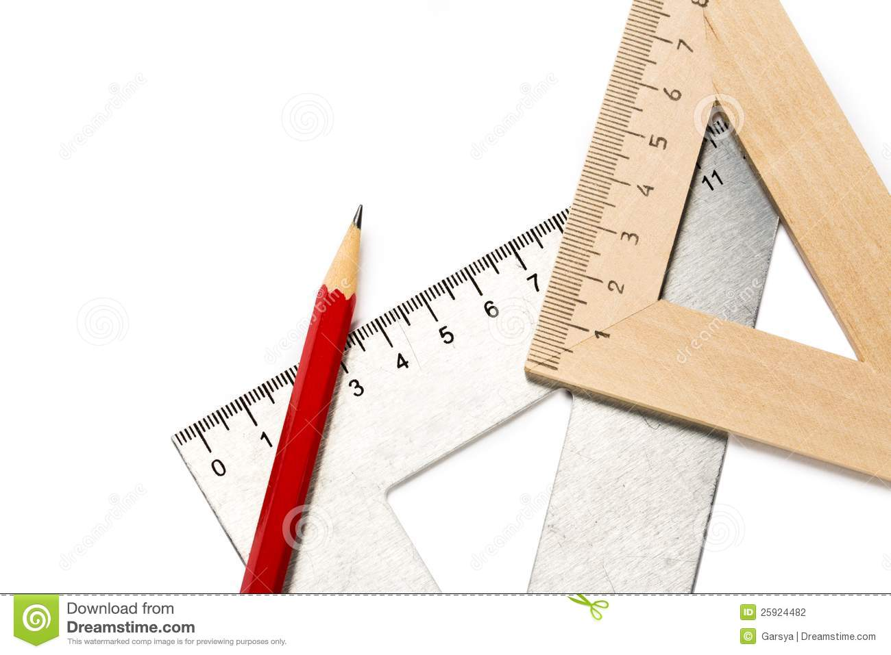 Drafting tools stock photo image of measurement for Architecture drawing tools