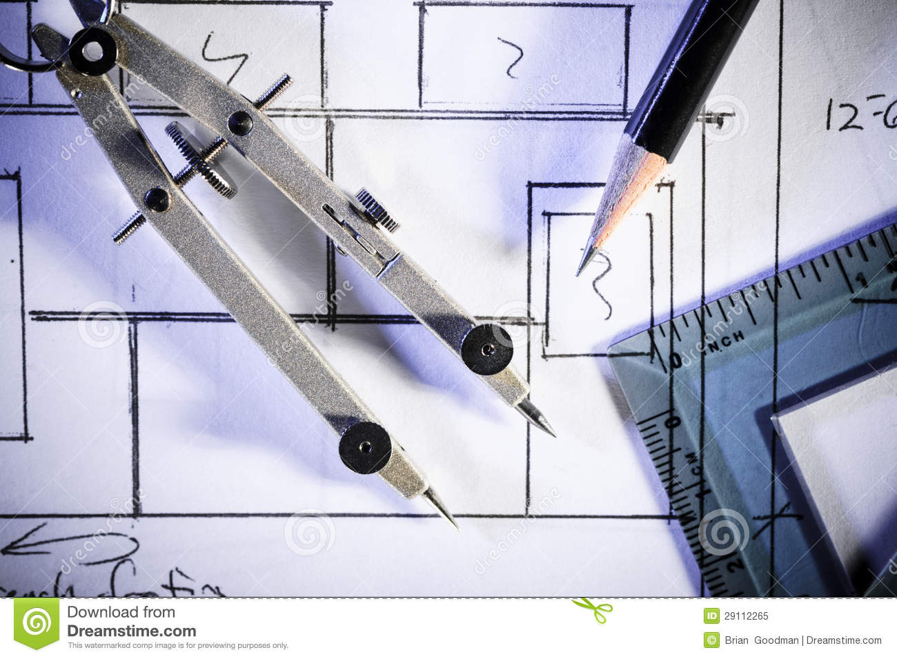 Drafting Tools Stock Image Image Of House Estate