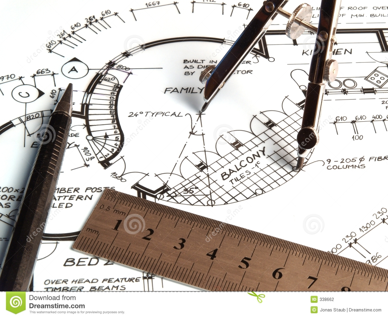 Drafting Tools Stock Photography - Image: 338662