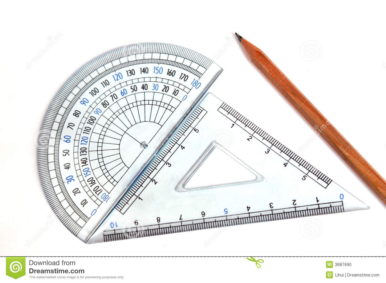 Drafting Tools Stock Photo Image 3687690