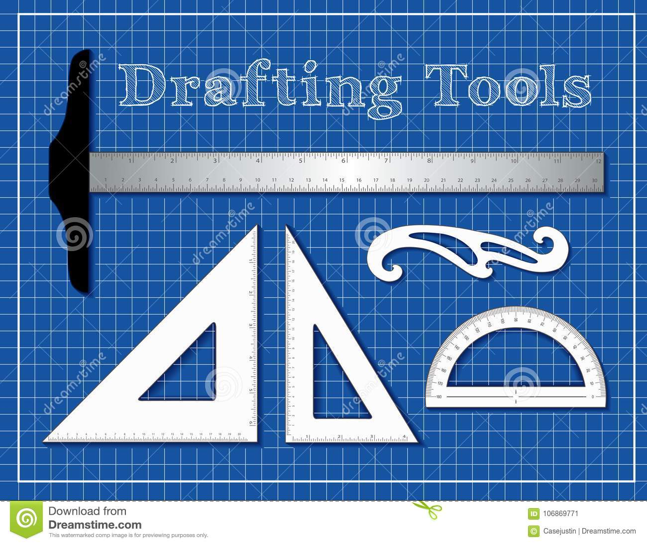 Drafting Tools For Architecture, Engineers, Science, Math, Stock ...
