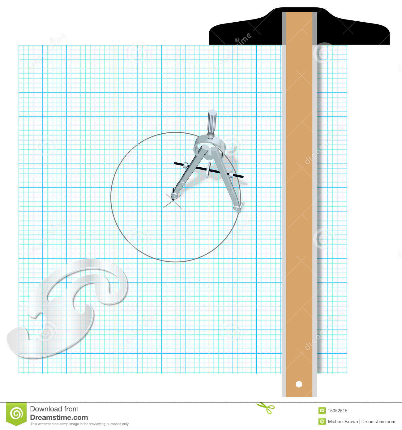 Drafting Tools Square Compass Engineering Royalty Free