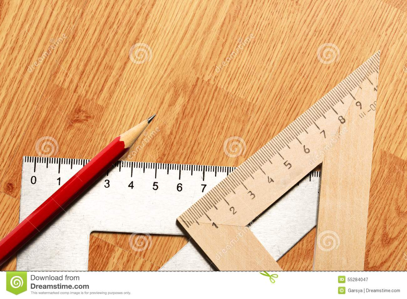 Drafting Tools On White Background Stock Image - Image of collection ...
