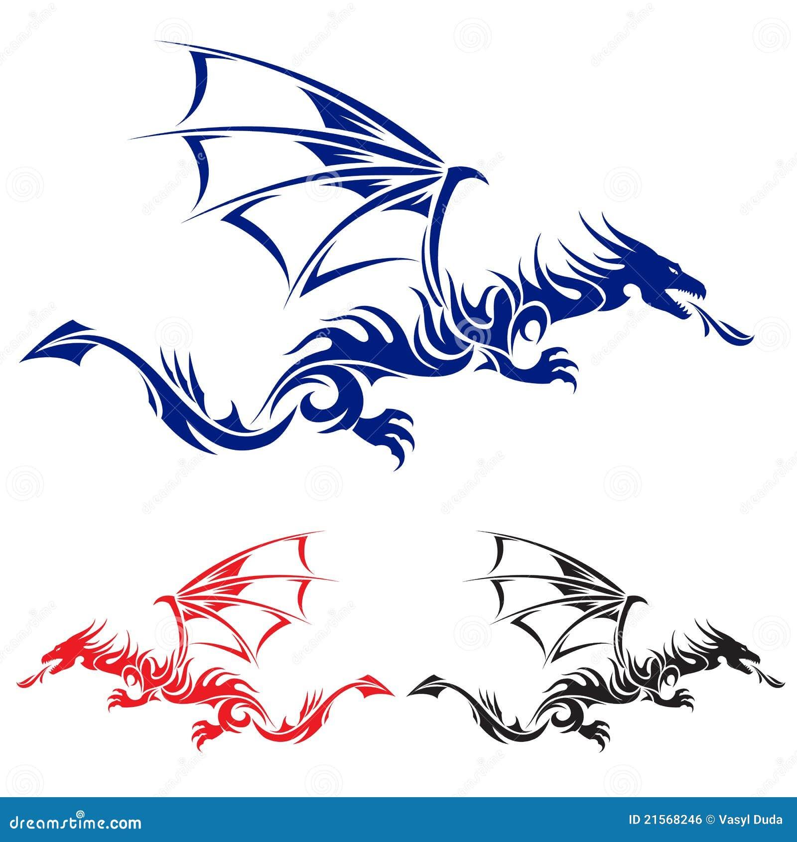 Dragão asiático do tatuagem.