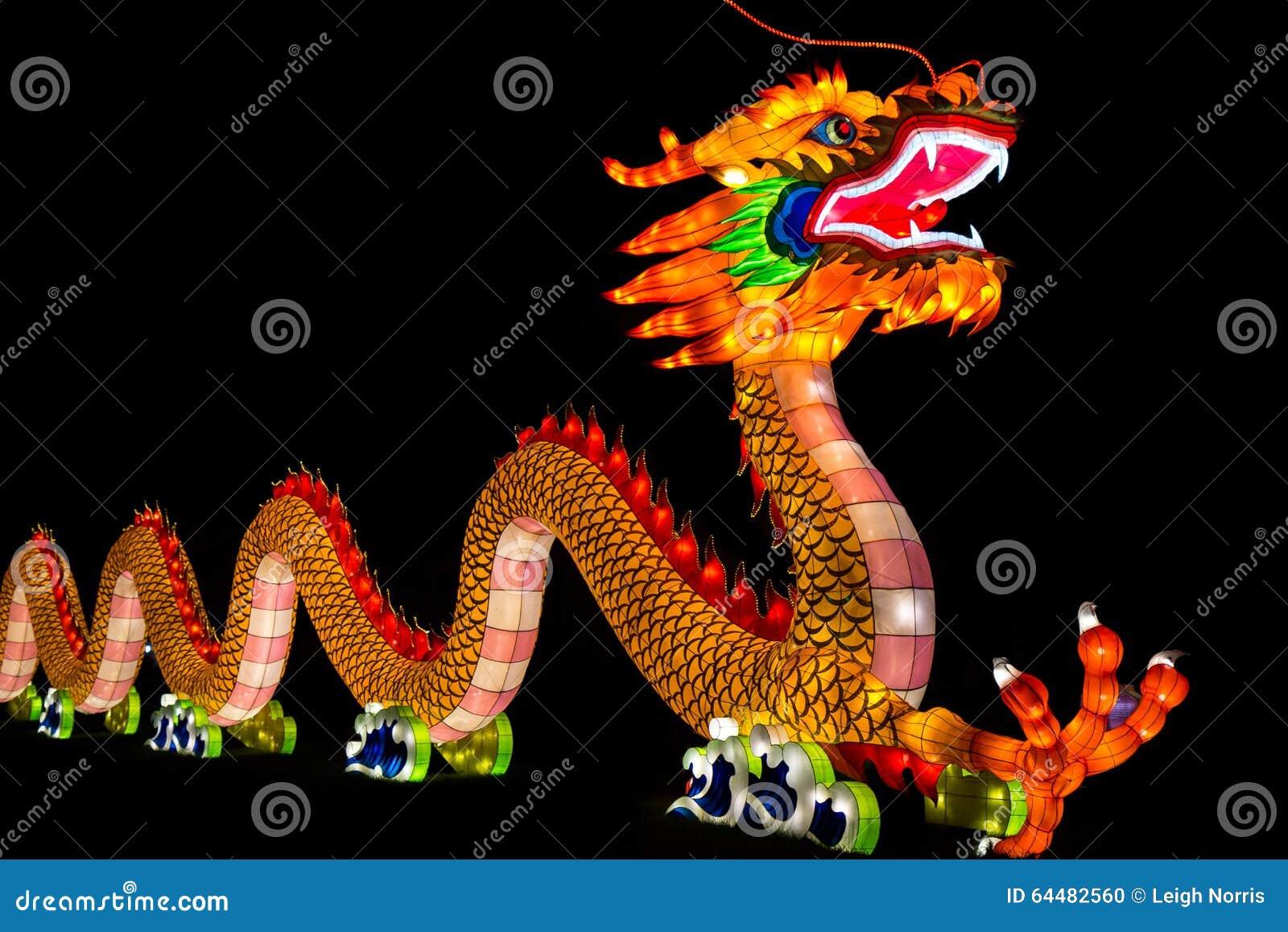 Dragão chinês lanterna iluminada