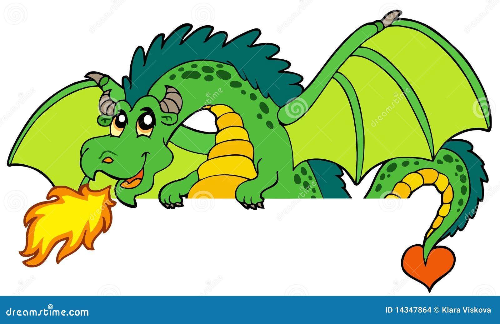 Dragão de espreitamento verde gigante
