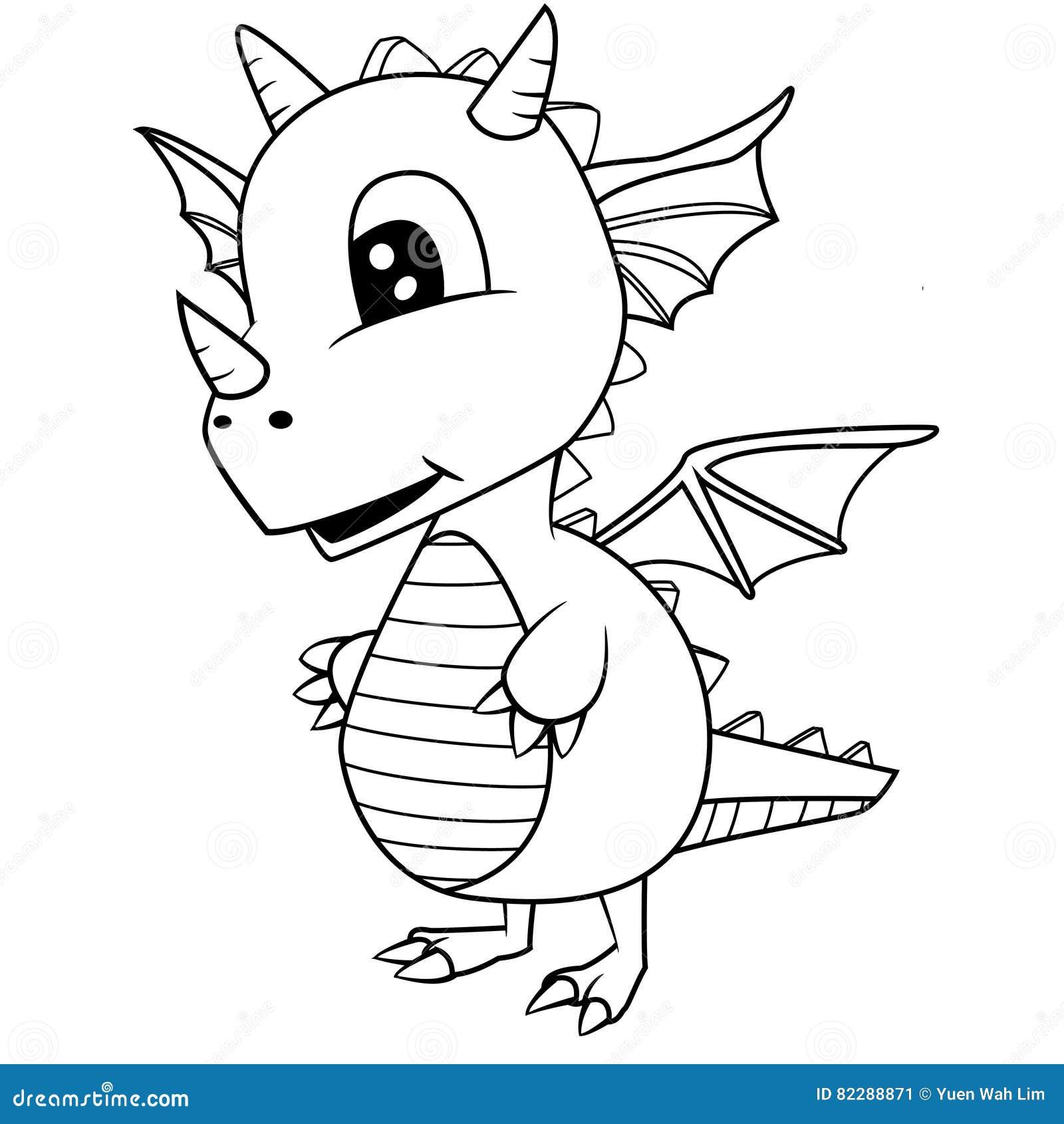 Atractivo Bebé Dragón Para Colorear Ideas - Enmarcado Para Colorear ...