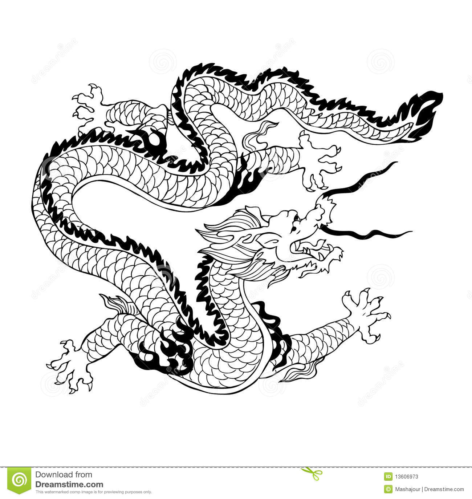 Dragón Chino Ilustración Del Vector Ilustración De étnico 13606973